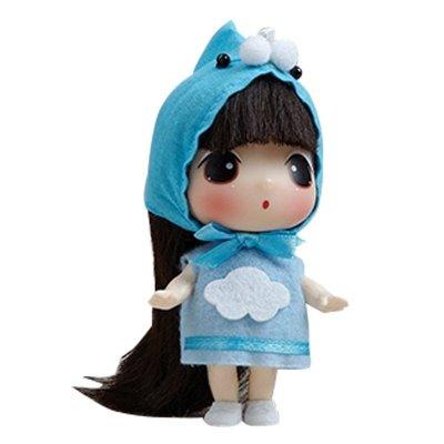 ddung冬己娃娃来自韩国的迷糊娃娃 9cm可爱版实惠装蓝天白云款0901d