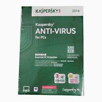 正版盒装 卡巴斯基反病毒2014英文版 一用户3