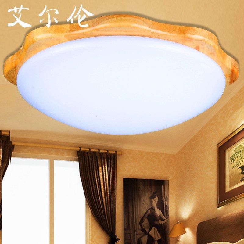 艾尔伦圆形中式吸顶灯儿童房间灯主卧室灯阳台过道新