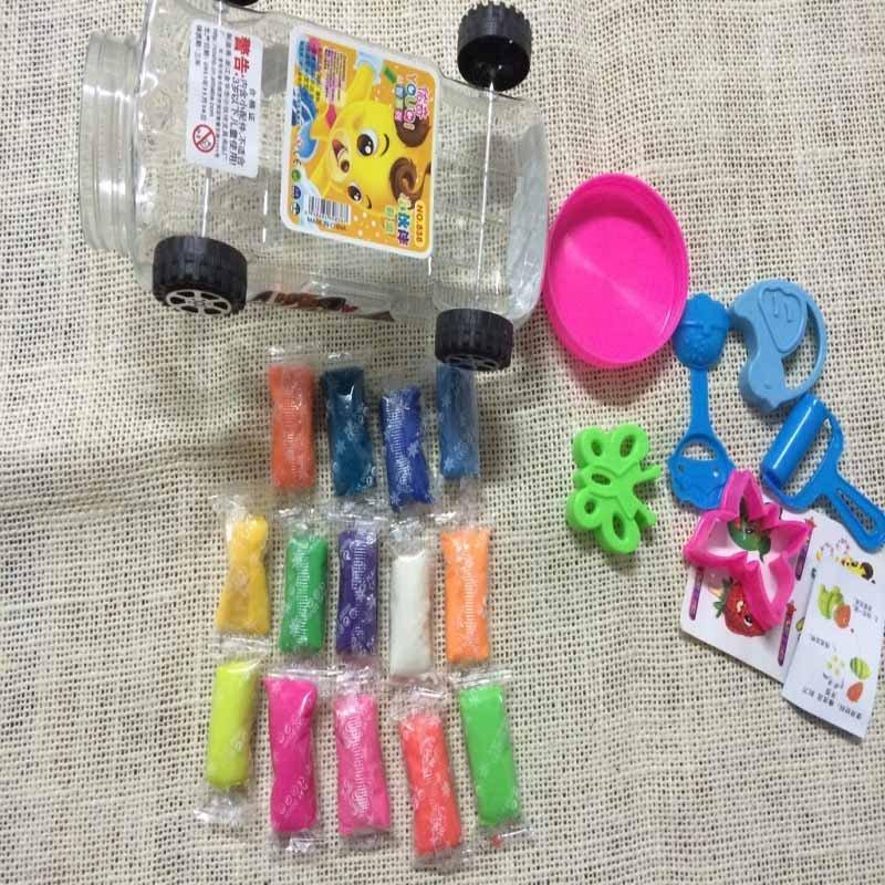 838小汽车彩泥22色彩泥3d彩泥 手工diy泥 无毒儿童玩具