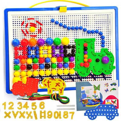 儿童蘑菇钉拼图蝴蝶图片