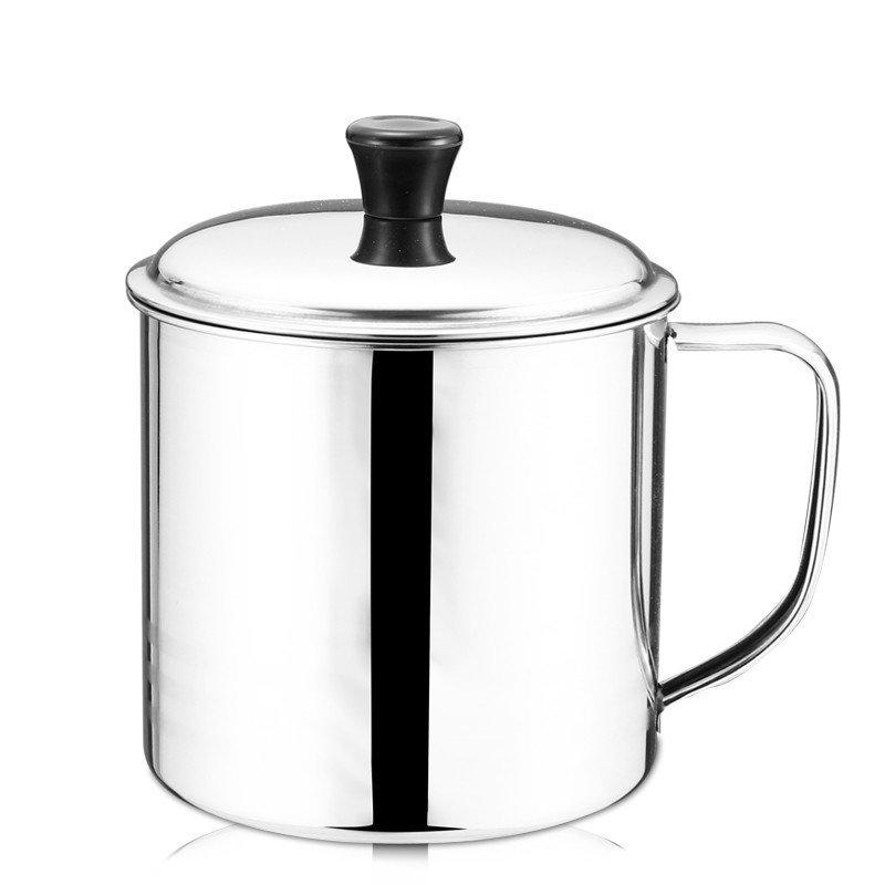 锐友加厚不锈钢杯子带盖幼儿园水杯学生儿童口杯小杯子喝水茶缸子