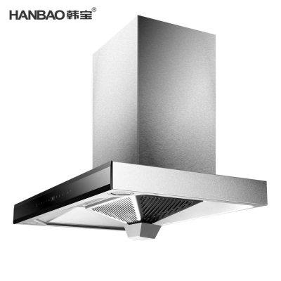韩宝(hanbao)欧式顶吸 烟雾感应 蓝牙音乐大吸力脱排抽油烟机 抽油