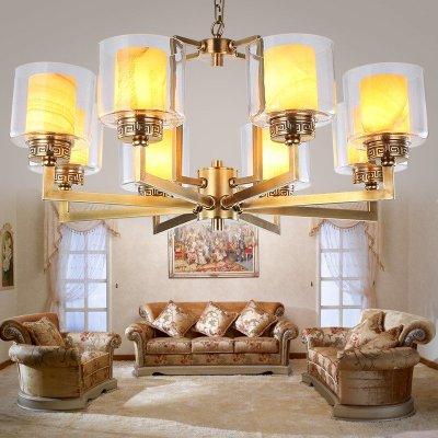 欧式吊灯客厅灯具 全铜灯饰新中式吊灯
