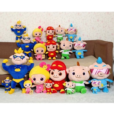 毛绒玩具猪猪侠公仔抱枕菲菲公主布娃娃玩偶小呆呆波比卡通可爱毛绒