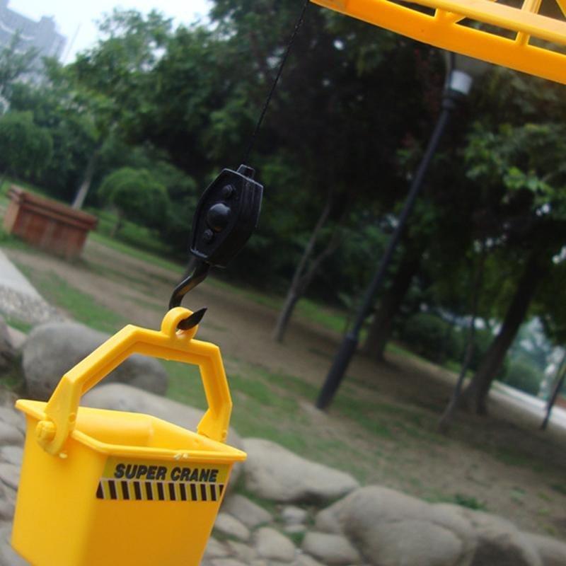 线控塔吊 电动遥控工程车玩具 儿童塔吊工程车吊车吊机