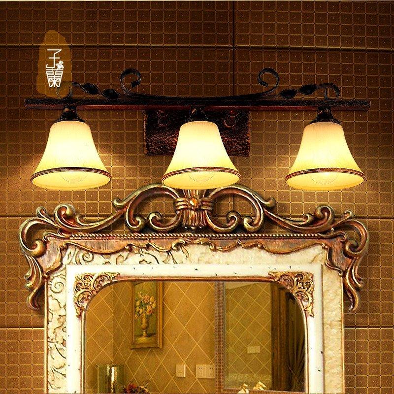 子兰灯饰美式镜前灯浴室卫生间镜柜灯欧式复古田园灯防水防潮 欧式图片
