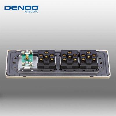 【插座 】丹珑118开关插座面板四位电视插座十五孔