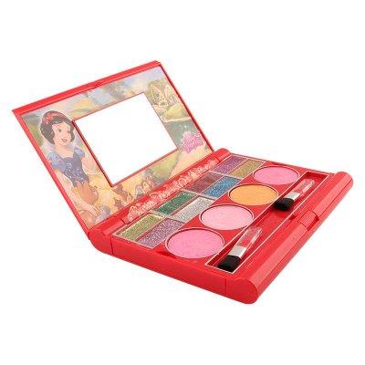 迪士尼儿童化妆品笔记本红色笔记本可爱公主化妆盒儿童彩妆套装女孩