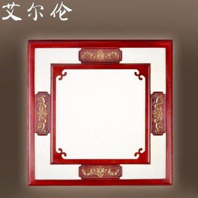 装饰照明灯饰正方形仿古卧室餐厅红木古典中国风灯具
