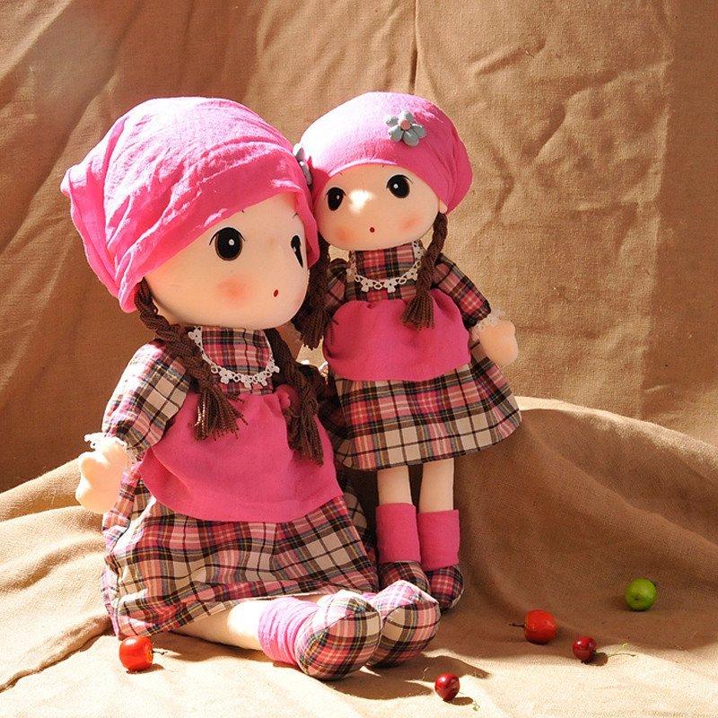 绒言绒语可爱格格菲儿布娃娃毛绒玩具女孩洋娃娃陪睡布偶 公仔生日