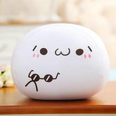 最新价格表情粒子抱枕图片表情公仔泡沫同款荷包蛋团子大号包图片