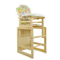 kindbear康贝儿实木无漆餐桌椅儿童餐椅多功能