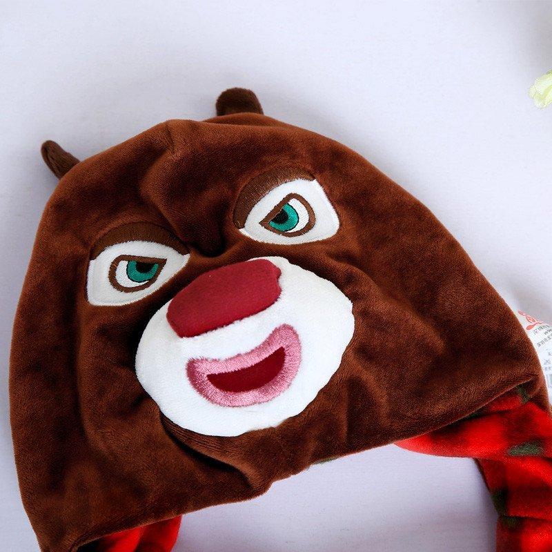 熊出没毛绒玩具角色帽子熊