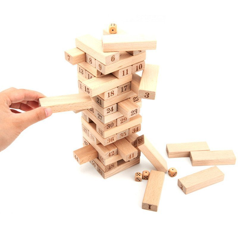 高档进口榉木 叠叠高层层叠 休闲益智玩具 积木 yzl