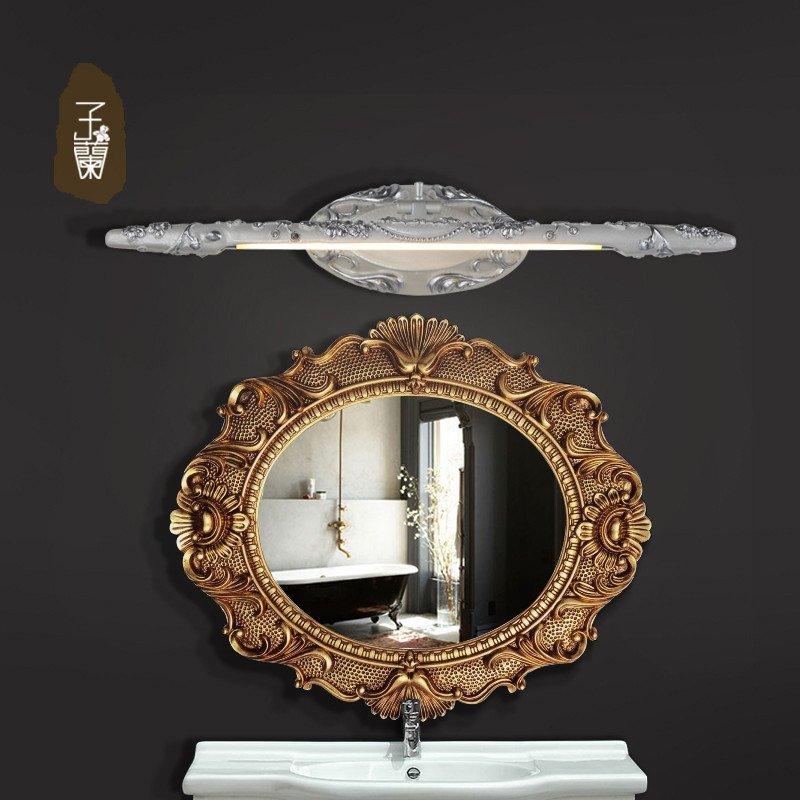 子兰灯饰 欧式镜前灯浴室卫生间镜柜美式led梳妆台镜前灯防水防雾