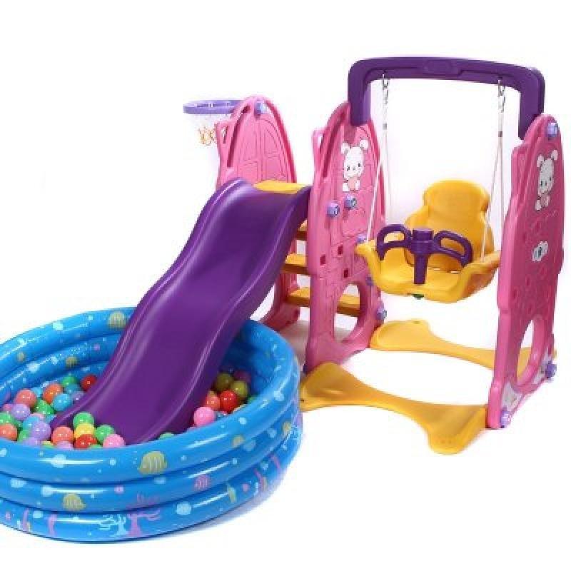 合嘉乐宝宝玩具 儿童滑滑梯秋千 室内滑梯海洋球池组合 宝宝滑梯厚