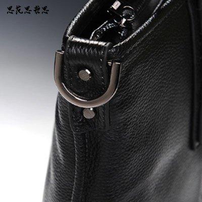 单肩斜跨包 纯皮男包mcm-0552 黑色