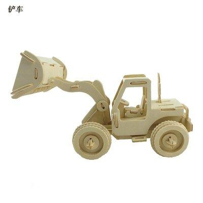 铲车 木质立体3d仿真汽车模型