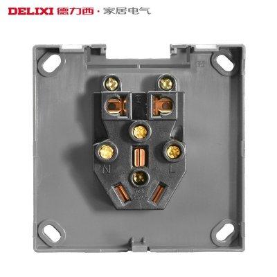 电子/电工 开关/插座 插座 开关 接线板/插头 底盒 德力西(delixi )