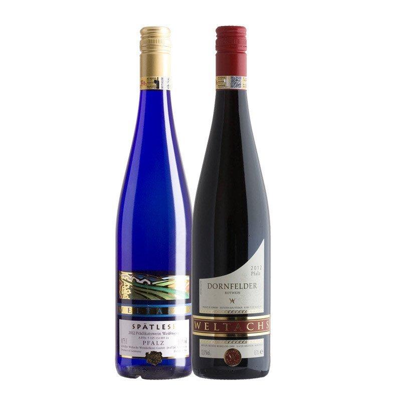 富隆红酒 维特思晚秋白葡萄酒 丹菲红冰甜酒750ml 两瓶组合高清实拍图图片