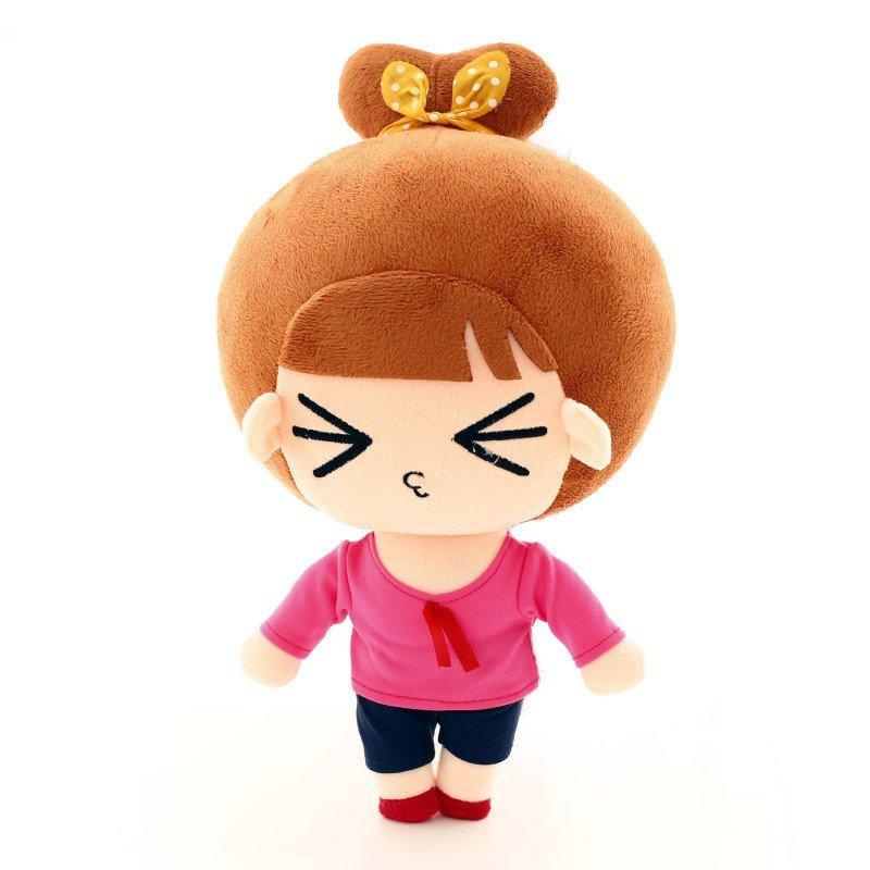 正版萌小q毛绒公仔表情系列包邮布娃娃毛绒玩具生日节日女生礼物 超级图片