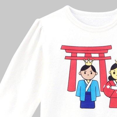 女童白色卡通人物卫衣