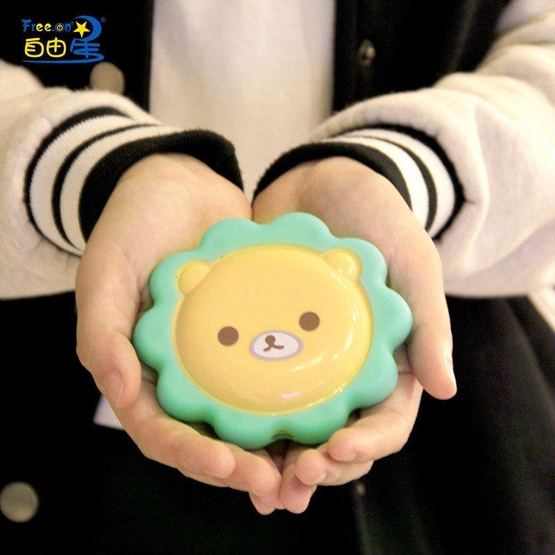 创意家居礼品 韩版可爱卡通奶油小熊狮子usb充电暖手宝暖手捂 送女友