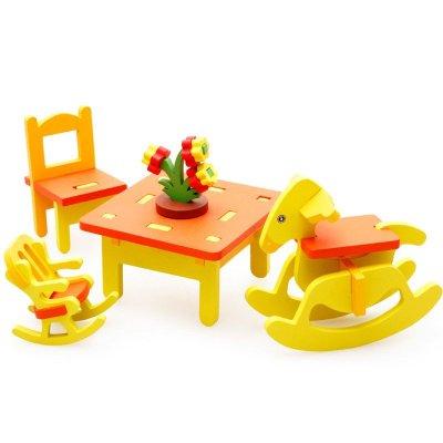 3d模型幼儿园桌椅