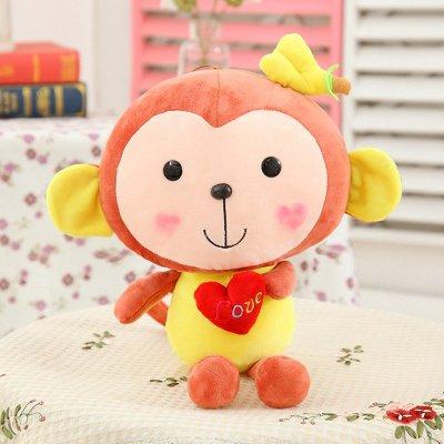 可爱卡通爱心猴子公仔毛绒玩具布娃娃情侣玩偶婚庆礼品猴年吉祥物