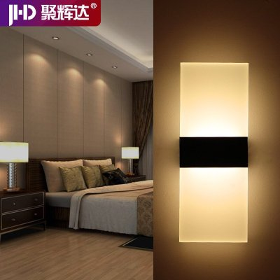 简约led壁灯床头灯过道壁灯卧室客厅壁灯创意欧式