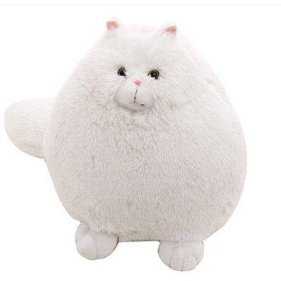 卡通可爱白色波斯猫公仔仿真猫咪毛绒玩具