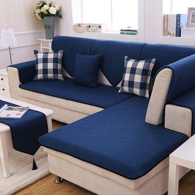 蓝色皮沙发