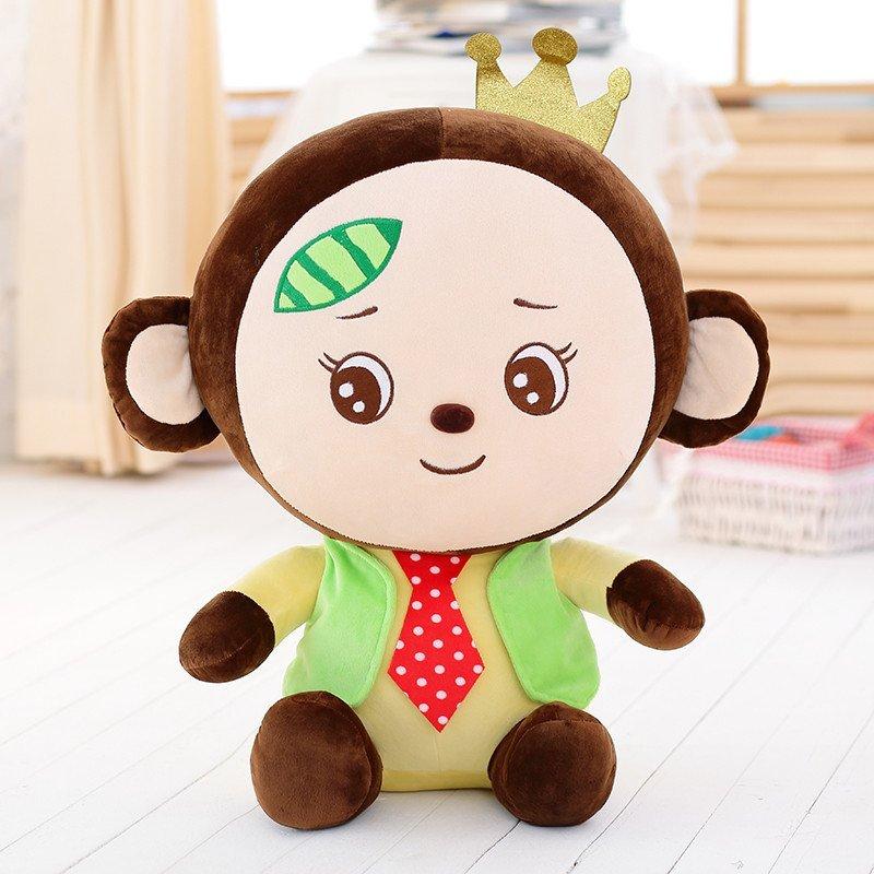 开心大嘴猴卡通毛绒玩具可爱布娃娃大号情侣生日礼物一对猴子公仔 45c