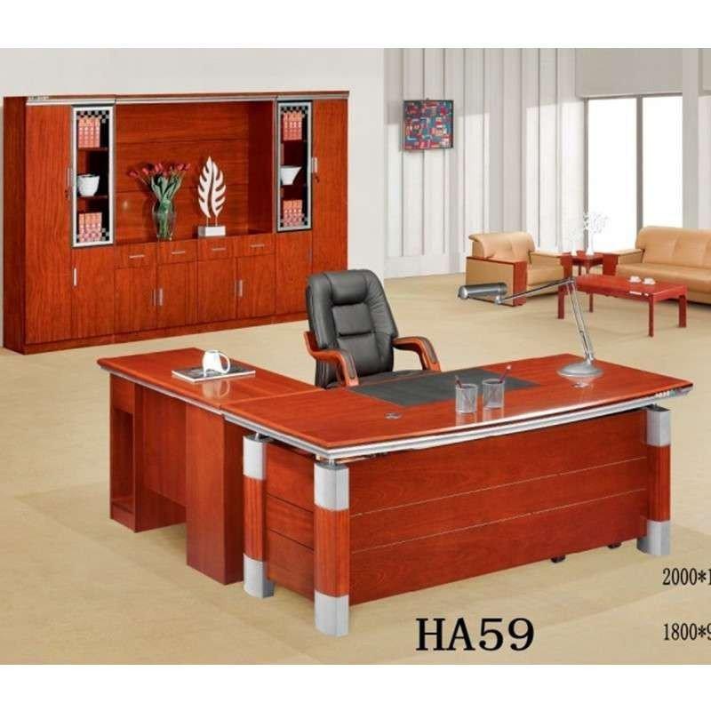 实木办公电脑桌