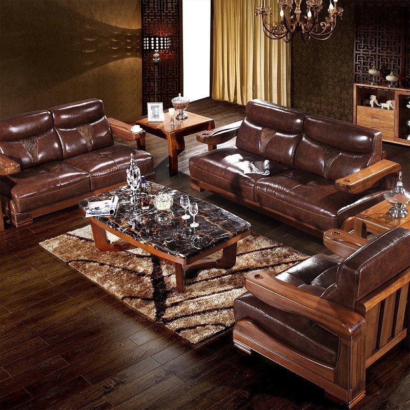 居克斯邦 实木沙发 新中式家具 高端楠木 客厅家具组合