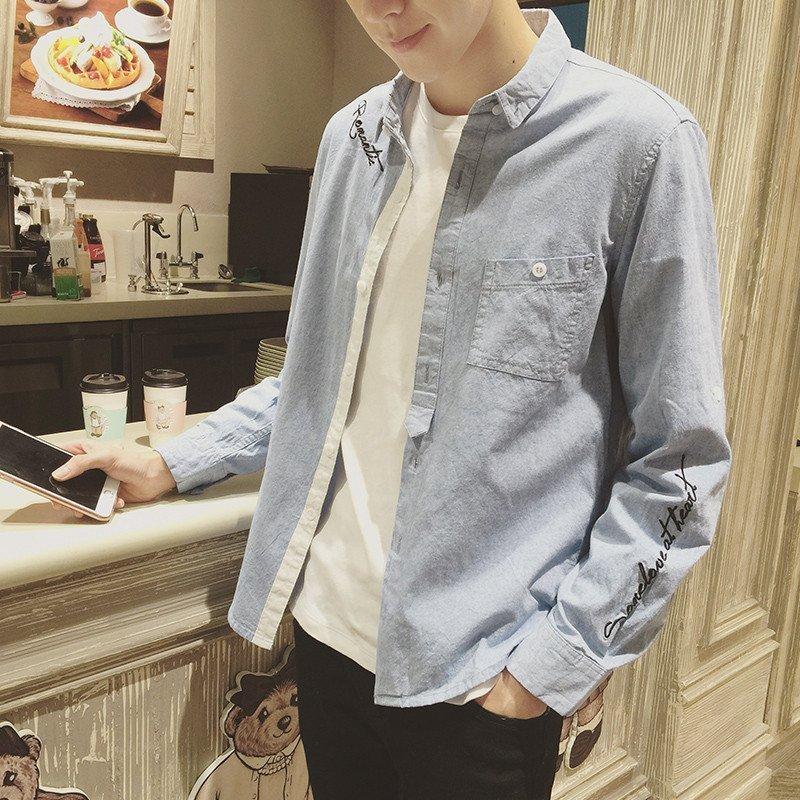 ZMAN系列】KZMAN2016春装新款衬衣英文刺