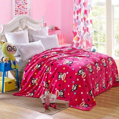 恋美家纺 空调毯午睡毯 法莱绒毛毯 2.0*2.3m 爱心世界
