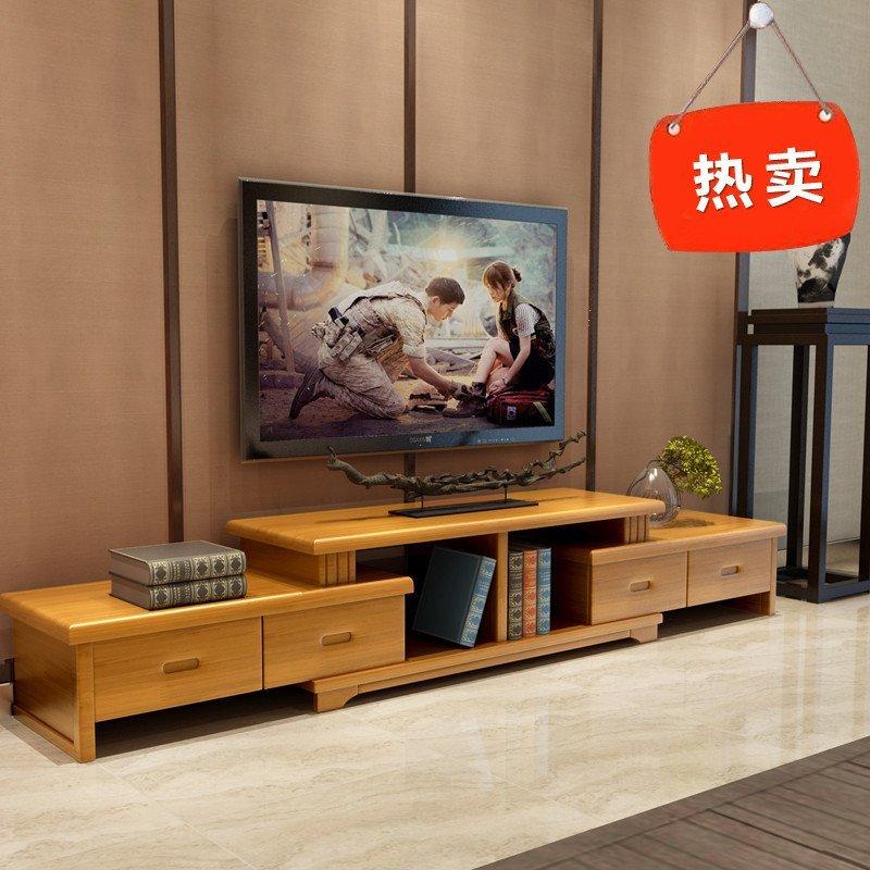 青木川 简约现代中式客厅家具实木电视柜 影视柜矮柜电视机柜子卧室