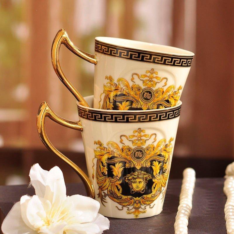 范思哲欧式宫廷茶具套装 陶瓷托盘茶壶茶杯套装 英式下午茶咖啡具 8头
