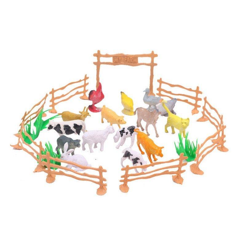 迪邦-0737家禽动物家庭农场栅栏仿真模型动物玩具