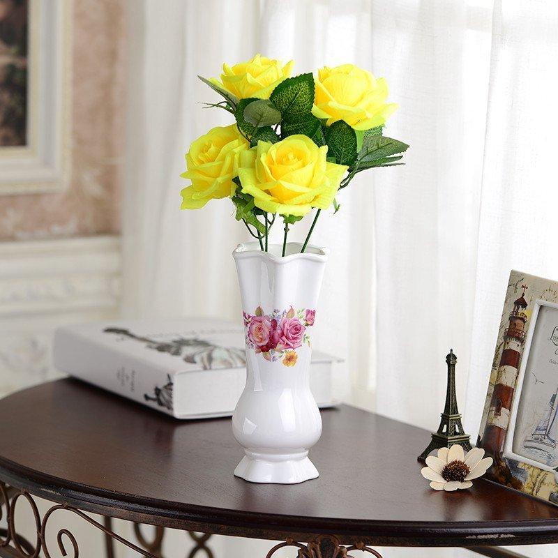 客厅摆件陶瓷花瓶红