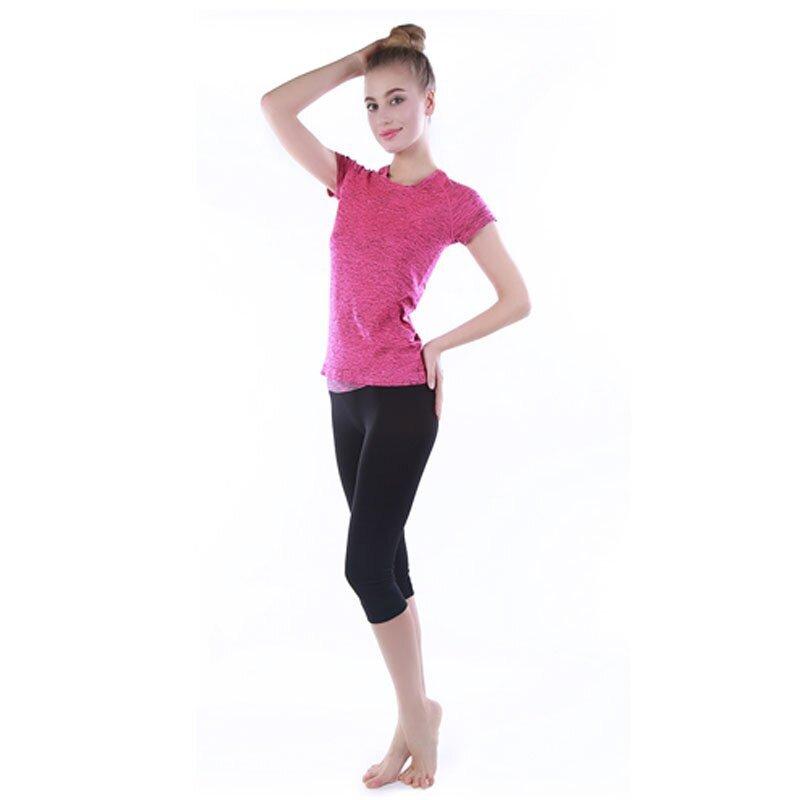 户外运动健身健身瑜伽服夏季高跟舞蹈服女速干韩国瑜伽服训练t恤运动短袖真皮女短靴广州图片