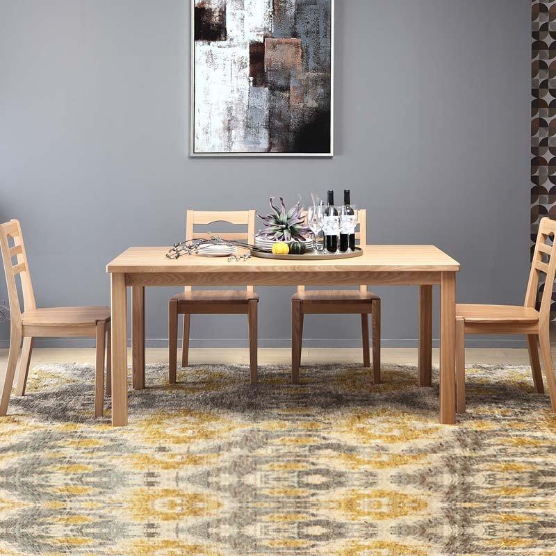 曲美家具家居 古诺凡希餐厅套餐 实木家具餐桌餐椅实木椅子 图示颜色
