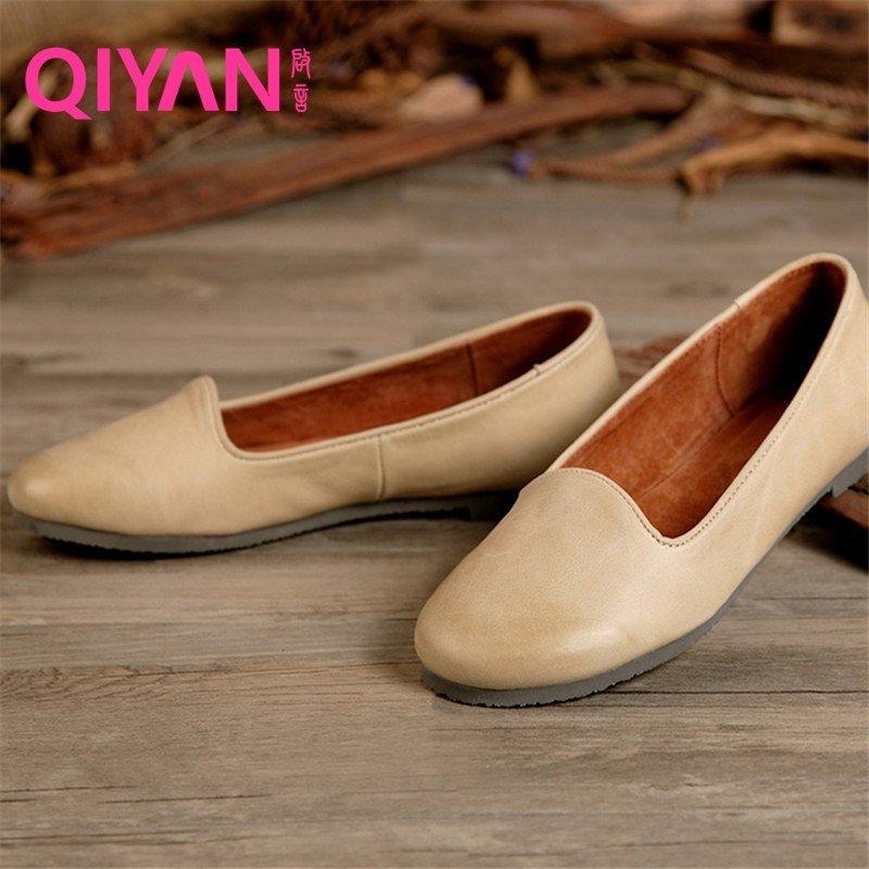 森系女鞋复古风简约女单鞋棉麻搭配必备品舒适便捷妈妈鞋时尚休闲平底
