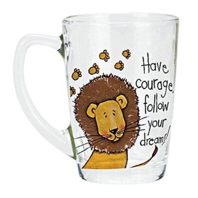 创意马克杯子茶杯透明儿童喝水杯牛奶咖啡情侣 艾尼-狮子