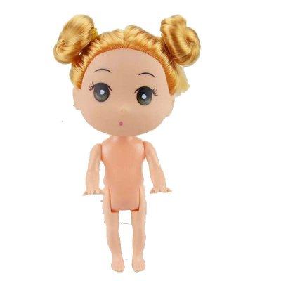 芭比娃娃迷糊娃娃12cm公主男孩男娃可爱儿手工素体浴