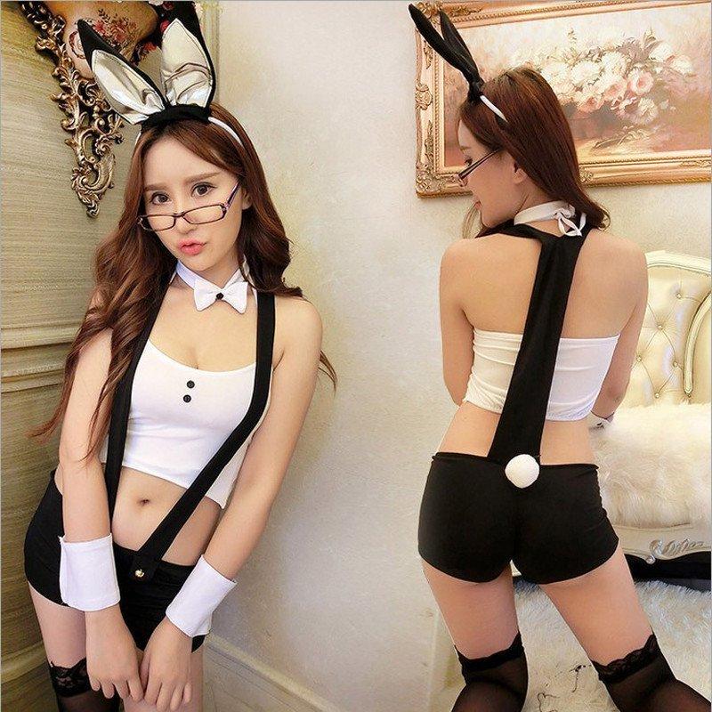 俏皮可爱背带兔女郎性感连体裤酒吧角色扮演情趣内衣制服诱惑