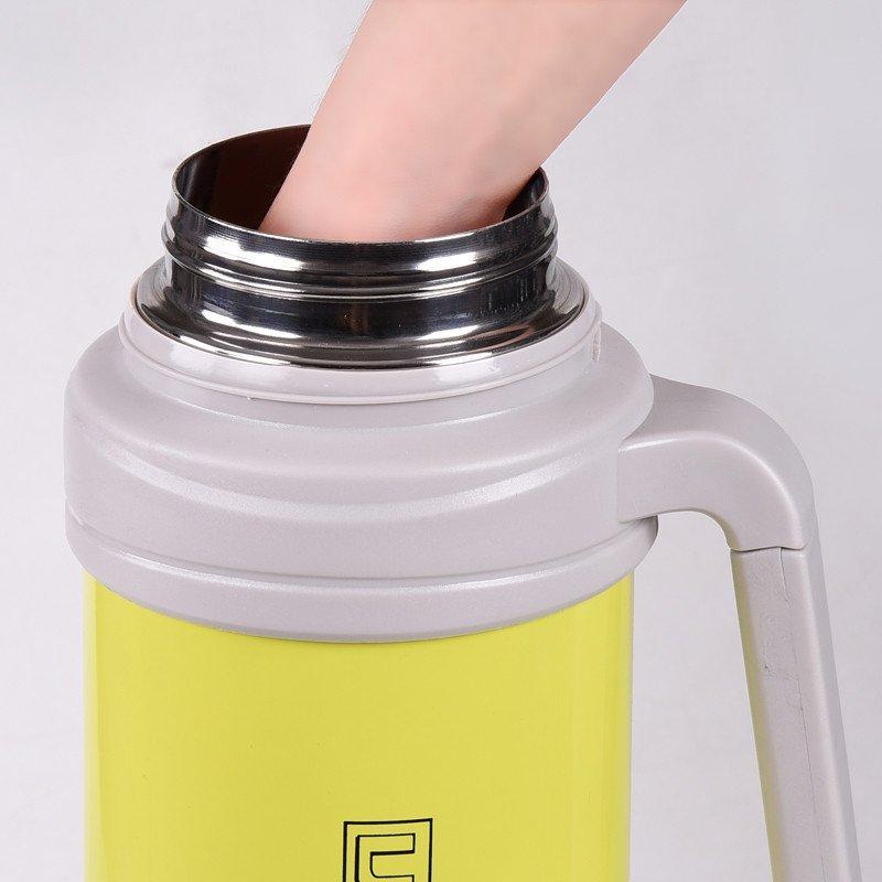 5升不锈钢保温杯真空户外3l旅游/行热水壶瓶4l 2l果绿送六48小时保温