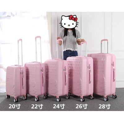xblgx 走出去 kt猫学生行李箱女拉杆箱20寸小旅行箱飞机万向轮24寸